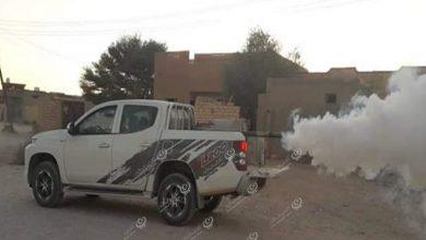 Photo of فريق رش المبيدات الحشرية يطلق حملة في شوارع مدينة نسمة