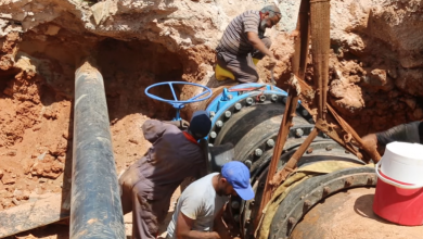 Photo of بلدية بنغازي تواصل أعمال ربط خطوط المياه