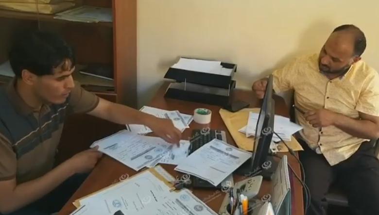 Photo of توقيع مباشرة العمل لأعضاء هيئة التدريس بجامعة طبرق