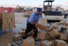 Photo of ضبط وإتلاف (7248) زجاجة خمر بميناء بنغازي البحري
