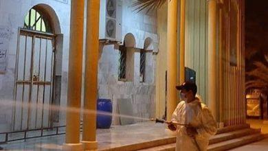 Photo of حملة رش وتعقيم حي الهضبة القاسي وبعض المساجد لإقامة صلاة الفجر