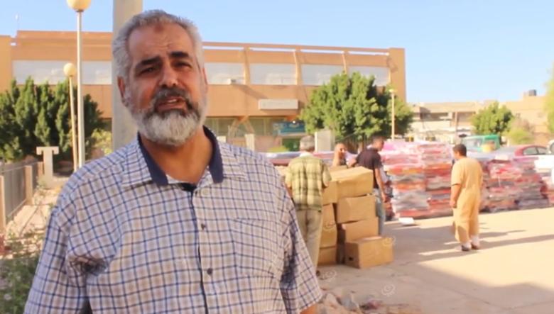 Photo of توزيع مساعدات علي نازحي المنطقة الغربية