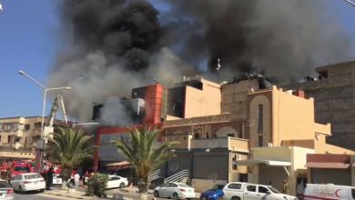 Photo of حريق ينشب في (سوق الحائس) التجاري بطرابلس