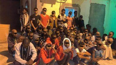 Photo of ضبط (55) مهاجر غير شرعي يستعدون لعملية هجرة عبر الساحل البحري بمدينة زليتن