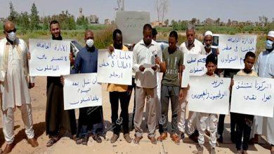 Photo of وقفة احتجاجية لعدد من أهالي سبها والبوانيس بسبب تردي خدمات الصرف الصحي