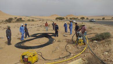 Photo of هاتف ليبيا تشرع في مد كوابل الفايبر بين مزدة ونسمة وأبي الغرب
