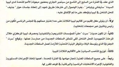 Photo of بيان رئيس مجلس النواب بشأن الاجتماع التشاوري للأطراف الليبية بسويسرا