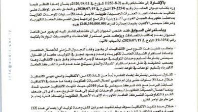 Photo of ديوان المحاسبة يؤكد عدم قبوله المصادقة على العقود بالتكليف المباشر تحت أي ظرف