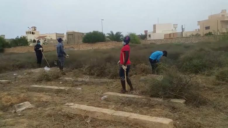 Photo of حملة نظافة لمقبرة المدينة بزوارة