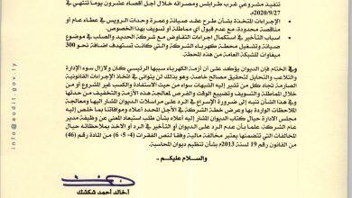Photo of ديوان المحاسبة يخاطب الشركة العامة للكهرباء ويحملها شبهة الإبتزاز