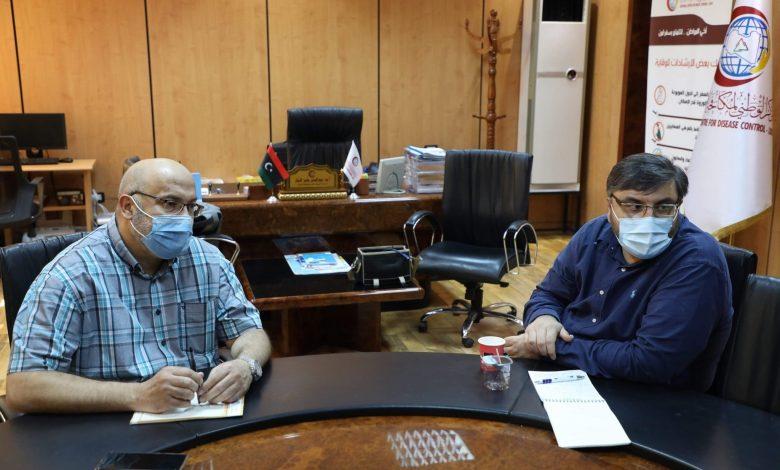 Photo of اجتماع بين المنظمة الدولية للهجرة ومكتب التعاون الفني والمنسق الوطني للرصد بمركز مكافحة الأمراض
