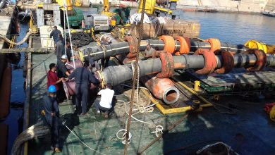 Photo of الانتهاء من أعمال الصيانة الجزئية للمرسى رقم (3) بميناء الزاوية النفطي