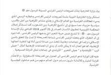 Photo of وزارة الخارجية تستنكر تصريحات الرئيس الفرنسي وخطابه الرسمي الذي يسيء للعلاقات  مع العالم الإسلامي