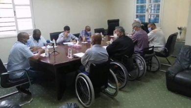 Photo of اجتماع اللجنة الفنية العليا لكرة السلة على الكراسي المتحركة لمناقشة تنفيذ البرامج المستقبلية للعبة