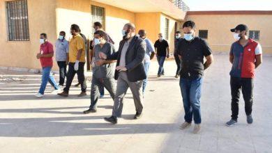 Photo of اللجنة المكلفة من وزارة الصحة تتابع مركز العزل الطبي بطبرق