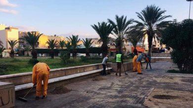Photo of حملة نظافة واسعة تتواصل داخل شوارع بلدية مصراتة