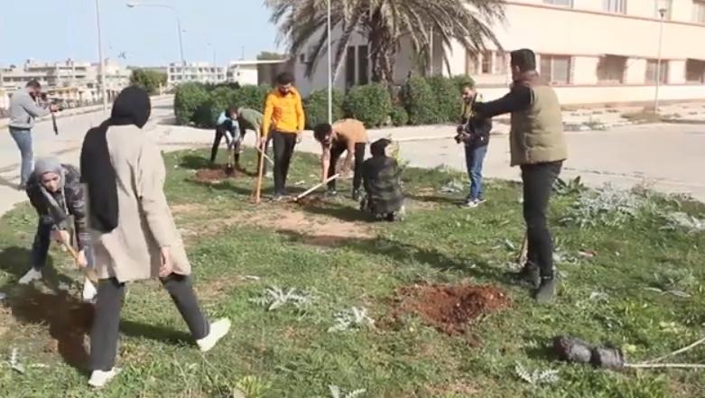 Photo of حملة تطوعية بمدينة البيضاء تحت شعار (حملة من أجل الأرض)