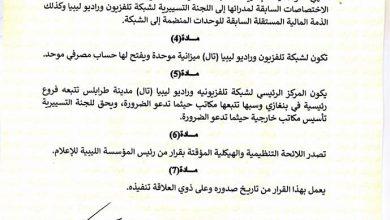 Photo of القنوات المرئية والإذاعات المسموعة التابعة للمؤسسة الليبية للإعلام في شبكة واحدة
