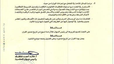Photo of رئيس ديوان المحاسبة يشكل لجنة لمراجعة إجراءات تعاقد وزارة المالية ومصلحة الجمارك مع شركة (sck)
