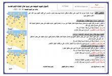 Photo of النشرة الجوية ليوم الجمعة الموافق 26 – 02 – 2021 الصادرة عن المركز الوطني للأرصاد الجوية