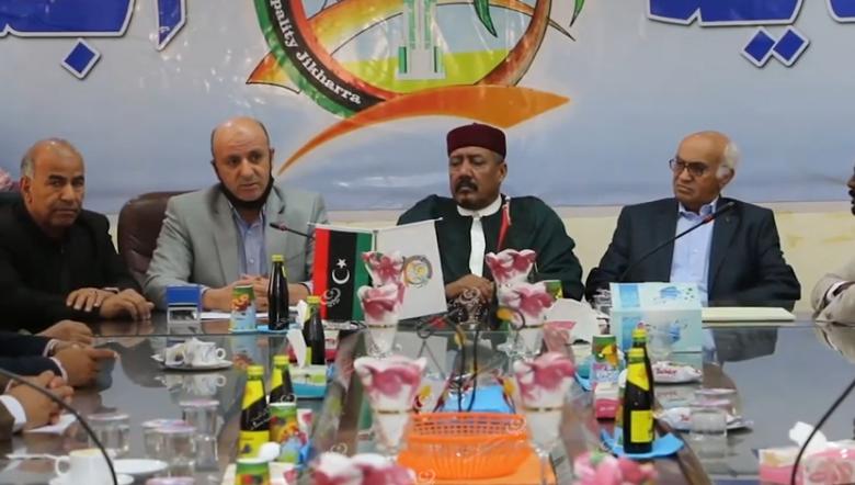 Photo of مراسم التسليم والاستلام بين المجلس التسييري السابق والمجلس البلدي المنتخب لبلدية إجخرة
