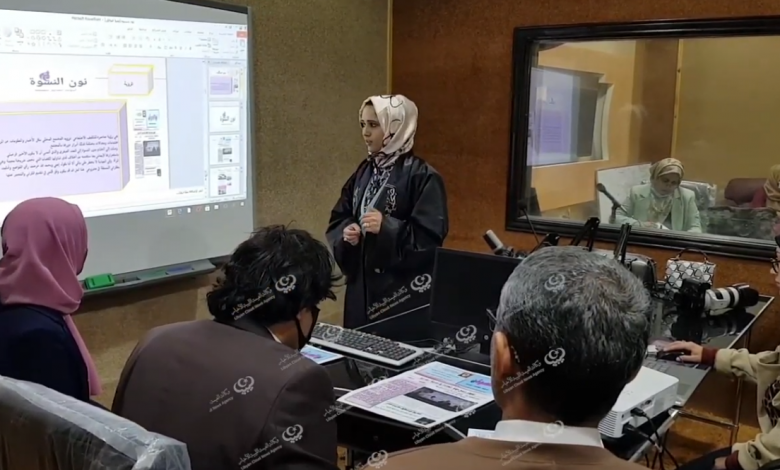 Photo of طلاب كلية الإعلام والاتصال اجدابيا يناقشون مشاريع التخرج