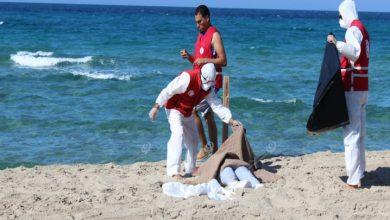 Photo of الهلال الأحمر الليبي يعلن مصرع (50) مهاجرا إثر غرق مركب قبالة سواحل الزاوية